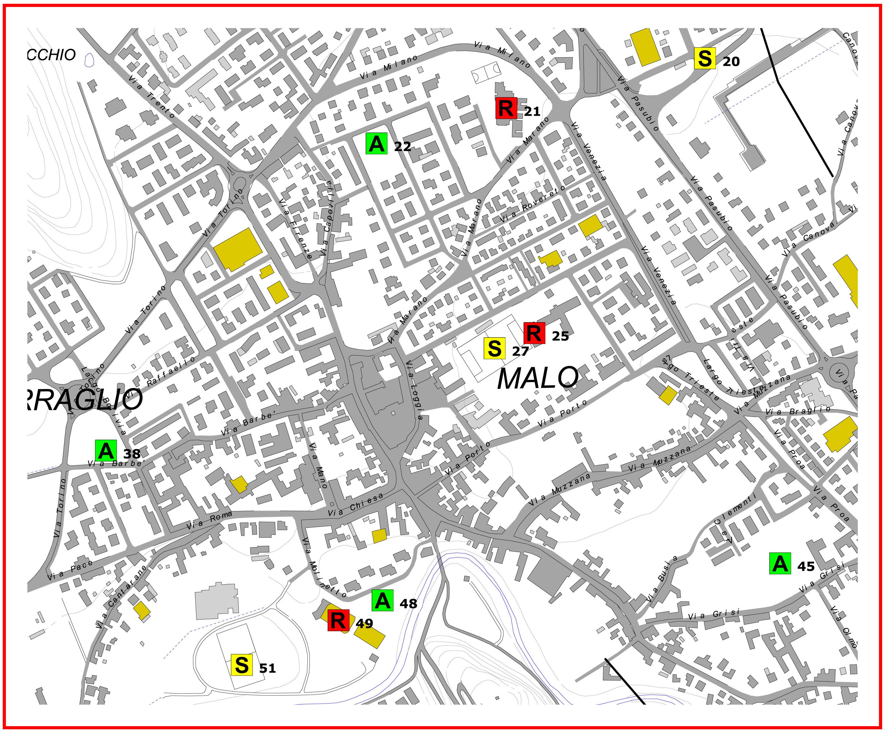 cartina centro